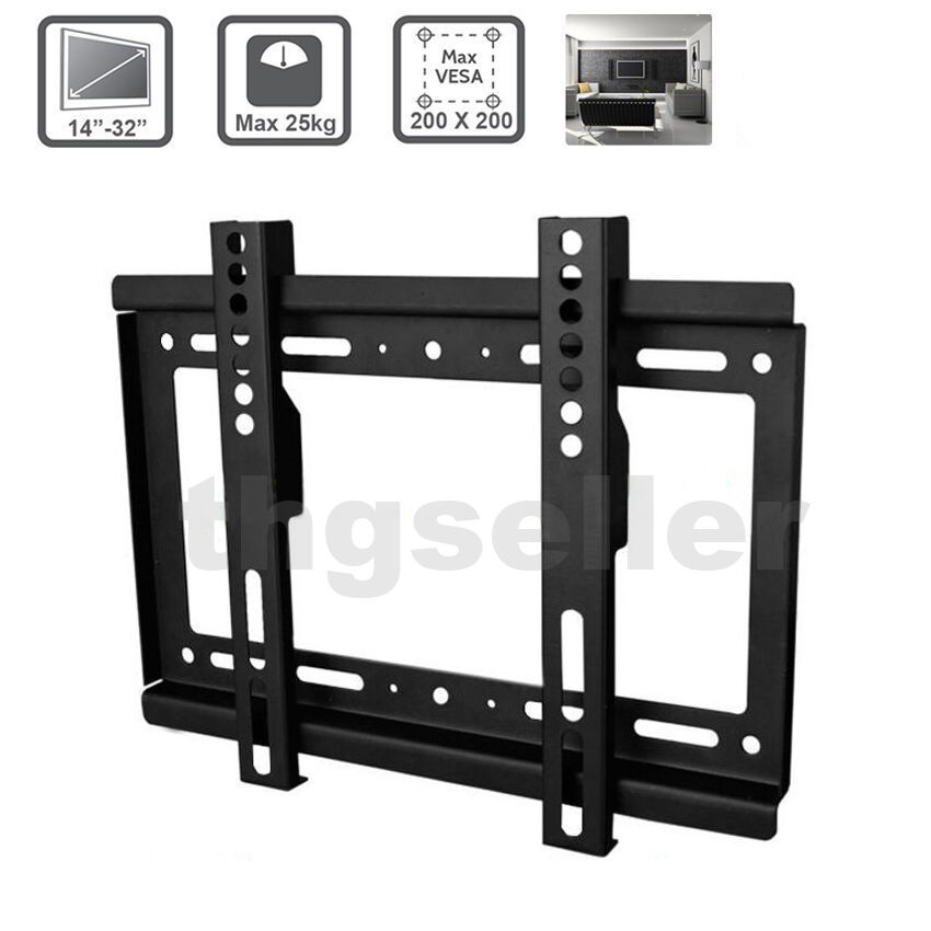 14 32 39 39 led tv wall mount bracket universal fixed wall tv. Black Bedroom Furniture Sets. Home Design Ideas