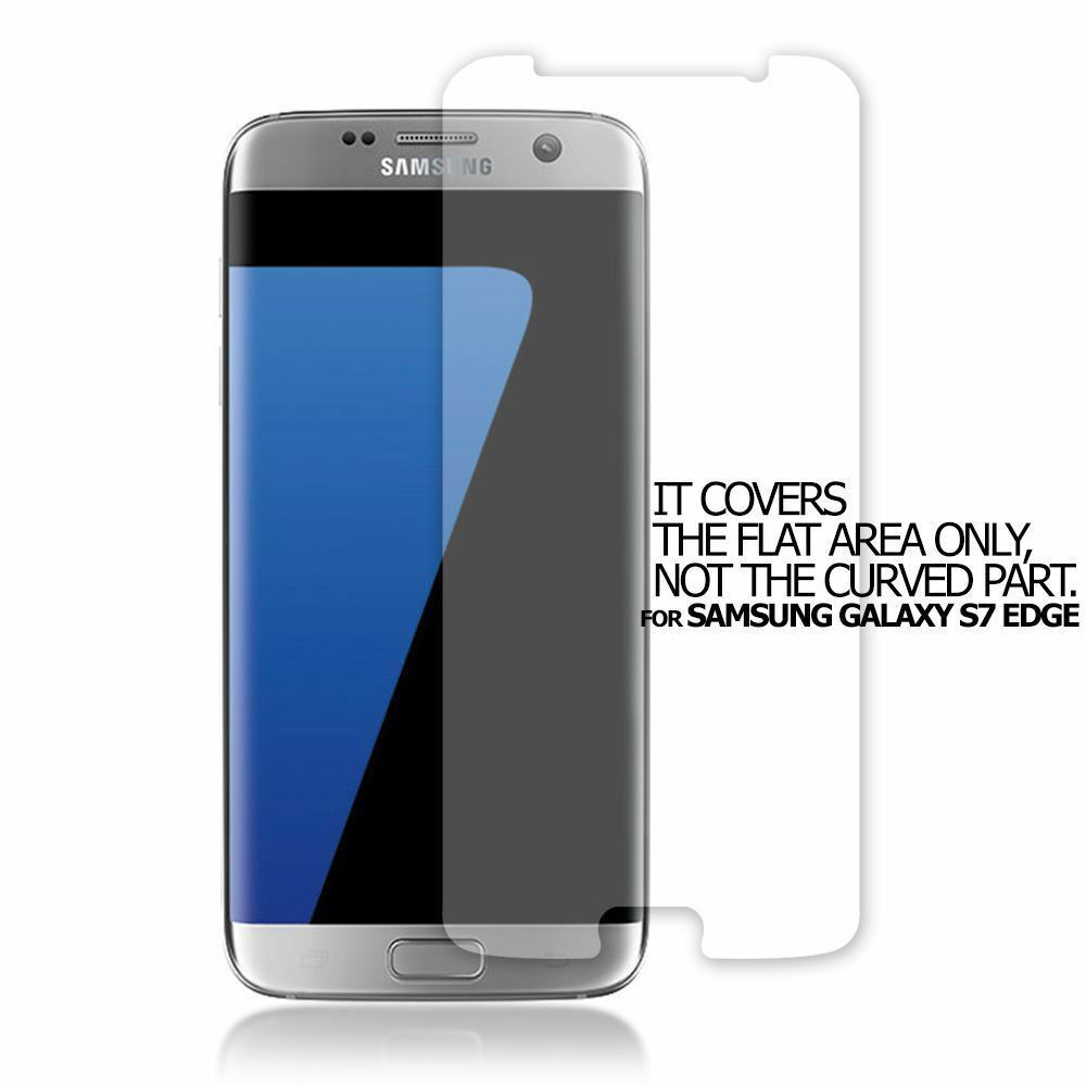 watch 1e5f0 2e268 TOP QUALITY CLEAR SCREEN PROTECTOR FLAT FILM COVER FOR SAMSUNG GALAXY S7  EDGE | eBay