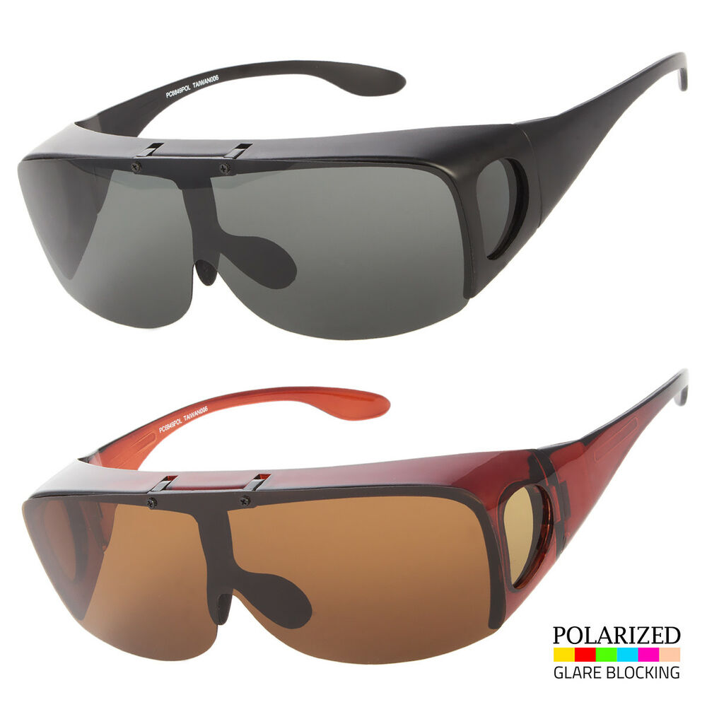 2eb4536b99 Details about POLARIZED FIT OVER SUNGLASSES COVER ALL GLASSES DRIVE FISH  WRAP SOLAR SHIELD