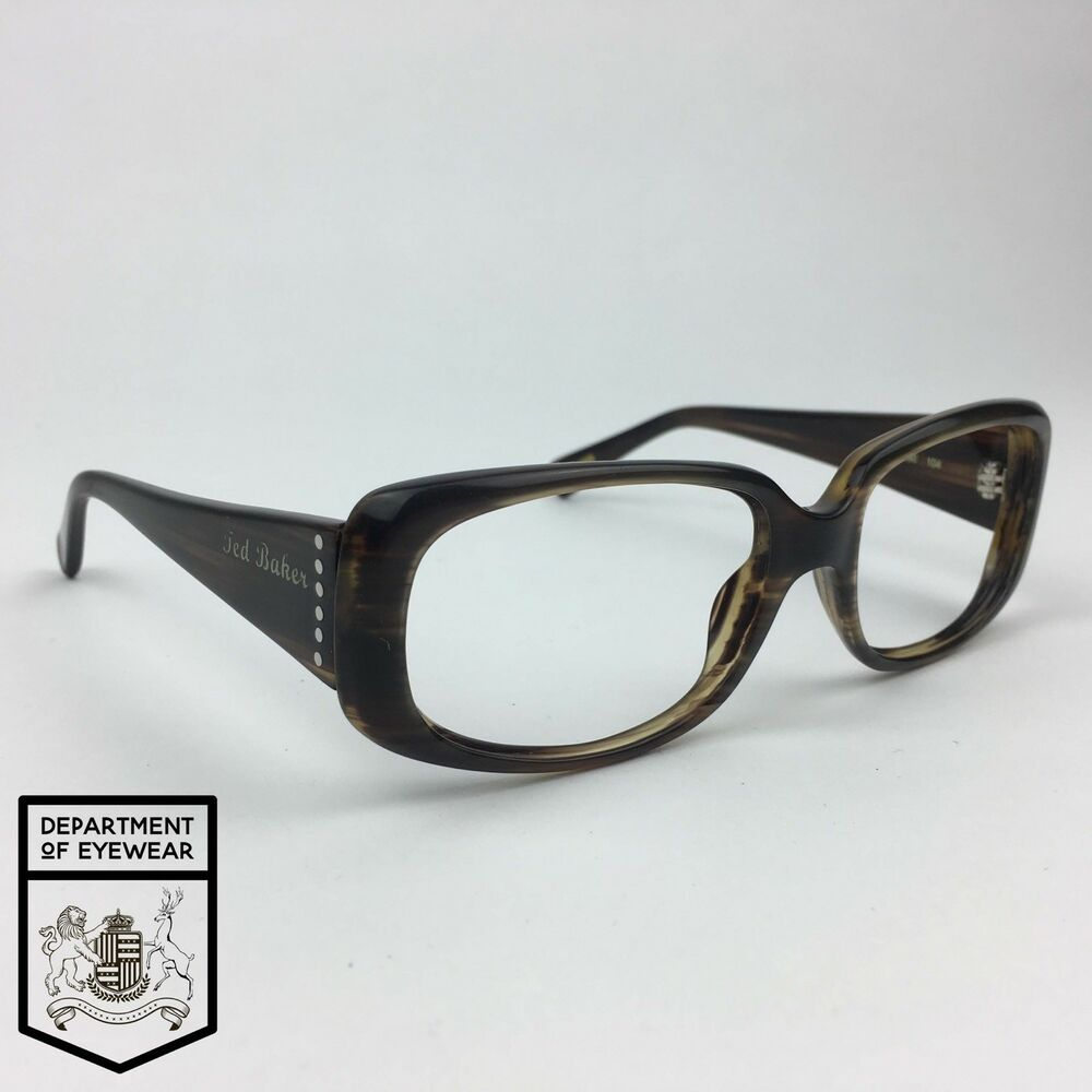 4896f44a0e1f Details about TED BAKER eyeglass TORTOISE RECTANGLE frame Authentic. MOD CRUSH  1090