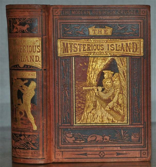 mysterious island jules verne scarce 1st 1st edition of. Black Bedroom Furniture Sets. Home Design Ideas