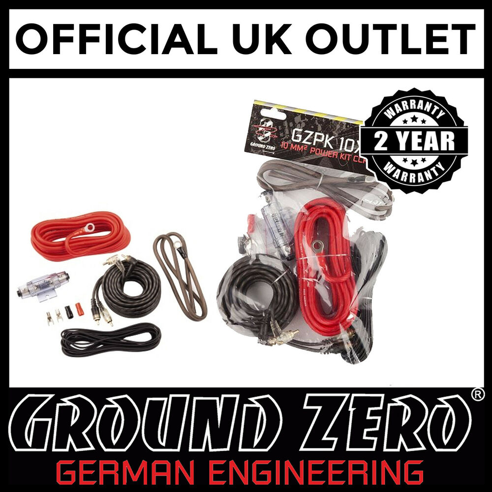 1500w Complete 8 Gauge Ground Zero Car Amp Amplifier Cable Subwoofer 10 Awg Wire Sub Wiring Kit Ebay