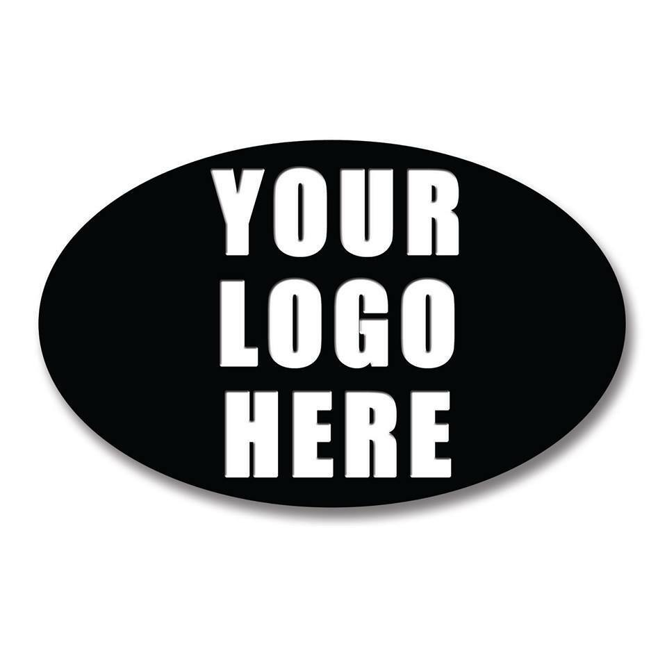Details about oval personalised business company name logo labels stickers thank you seals