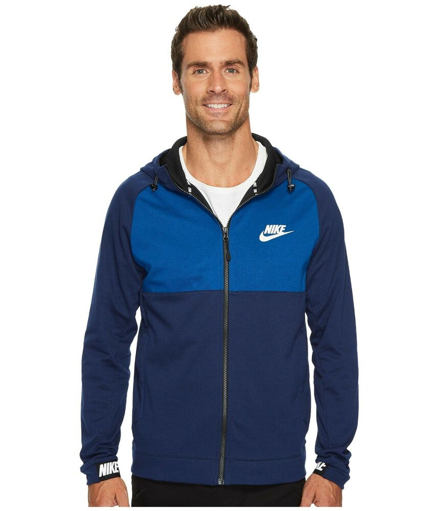 38b871dcb209 Details about NIKE NEW ADVANCE 15 FULL ZIP TRAINING HOODIE BLUE 861742-429  MEN S SIZE XL