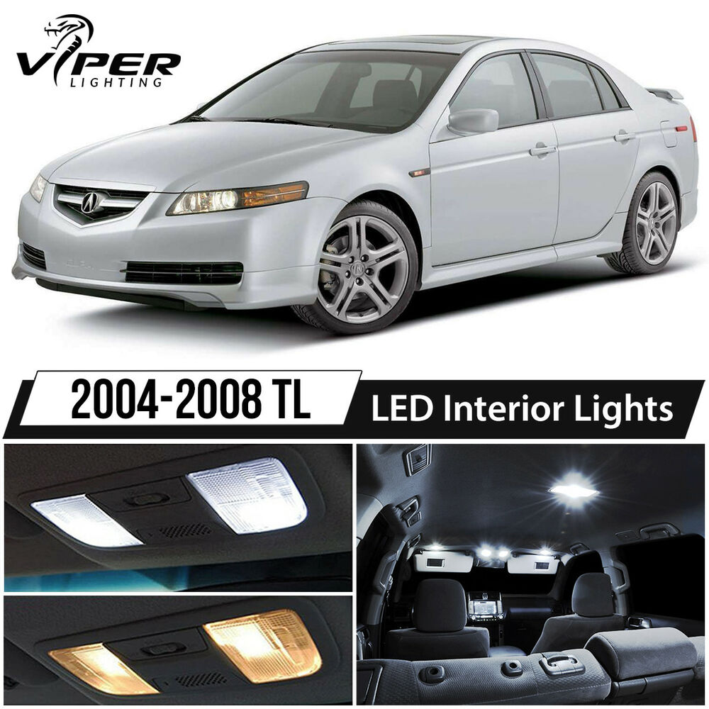 2004-2008 Acura TL White LED Interior Lights Package Kit