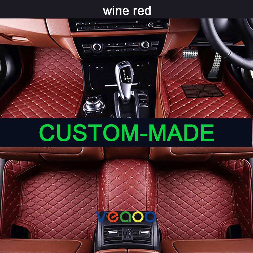 6 colors car floor mats for bmw z4 - 2 seat 2003-2016 leather car