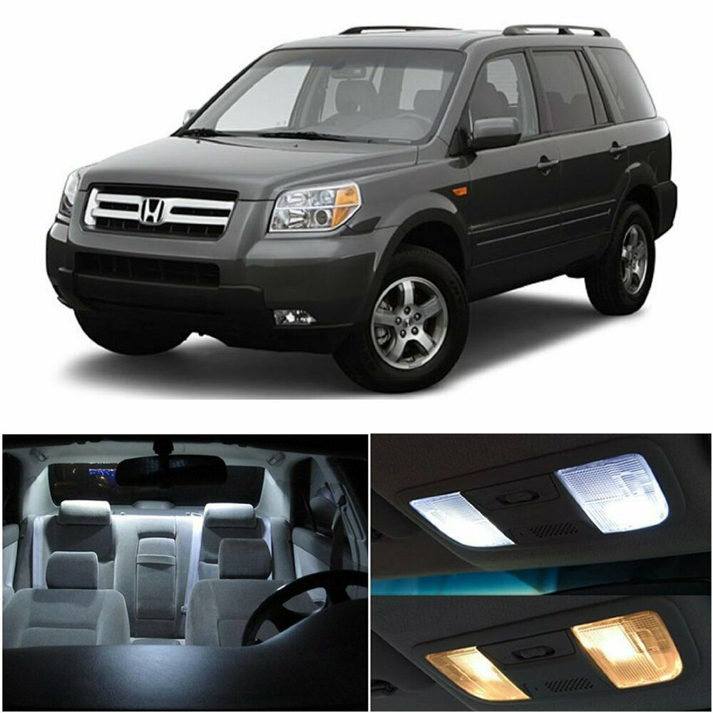 12x White Car Led 12v Bulbs For Honda Pilot 2006 2008 Interior Light Fog Wiring Harness Package Kit Ebay