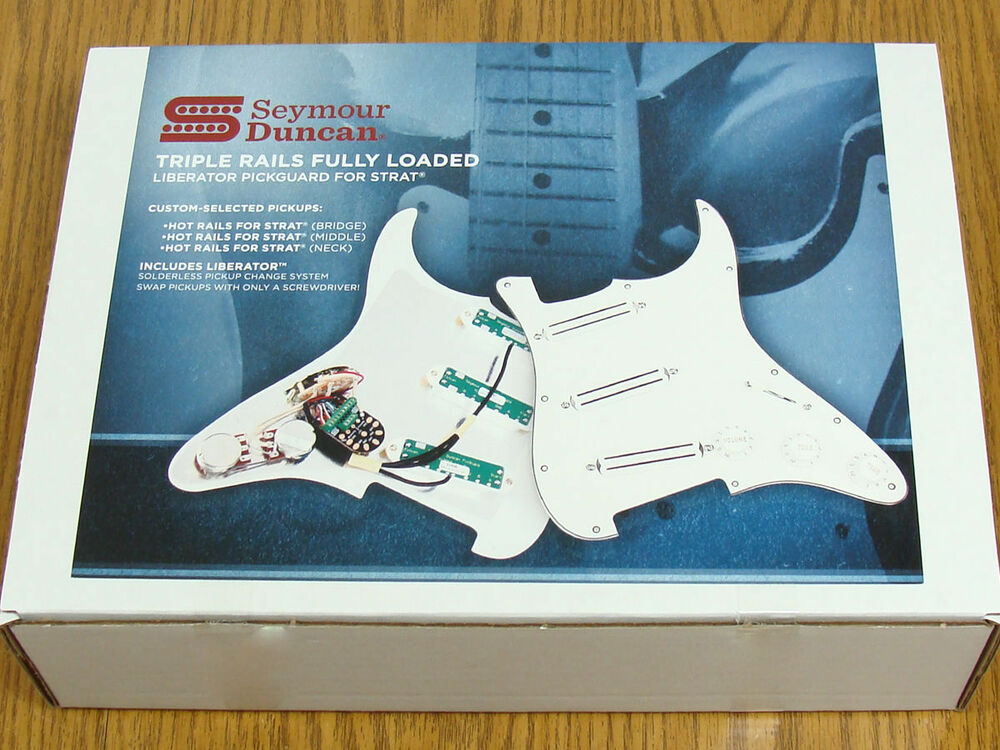 New Seymour Duncan Triple Rails Loaded Strat Pickguard White ...