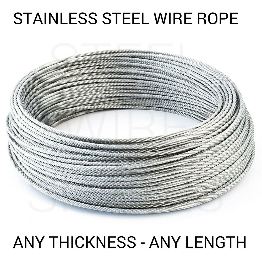 Stainless Steel Wire Rope Cable 1mm 2mm 3mm 4mm 5mm FREE DELIVERY | eBay