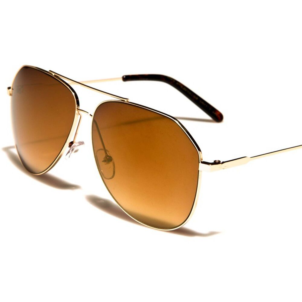 603d3e0648 Details about Classic Retro 80s Aviation Air Force Style Gold   Brown Mens  Womens Sunglasses