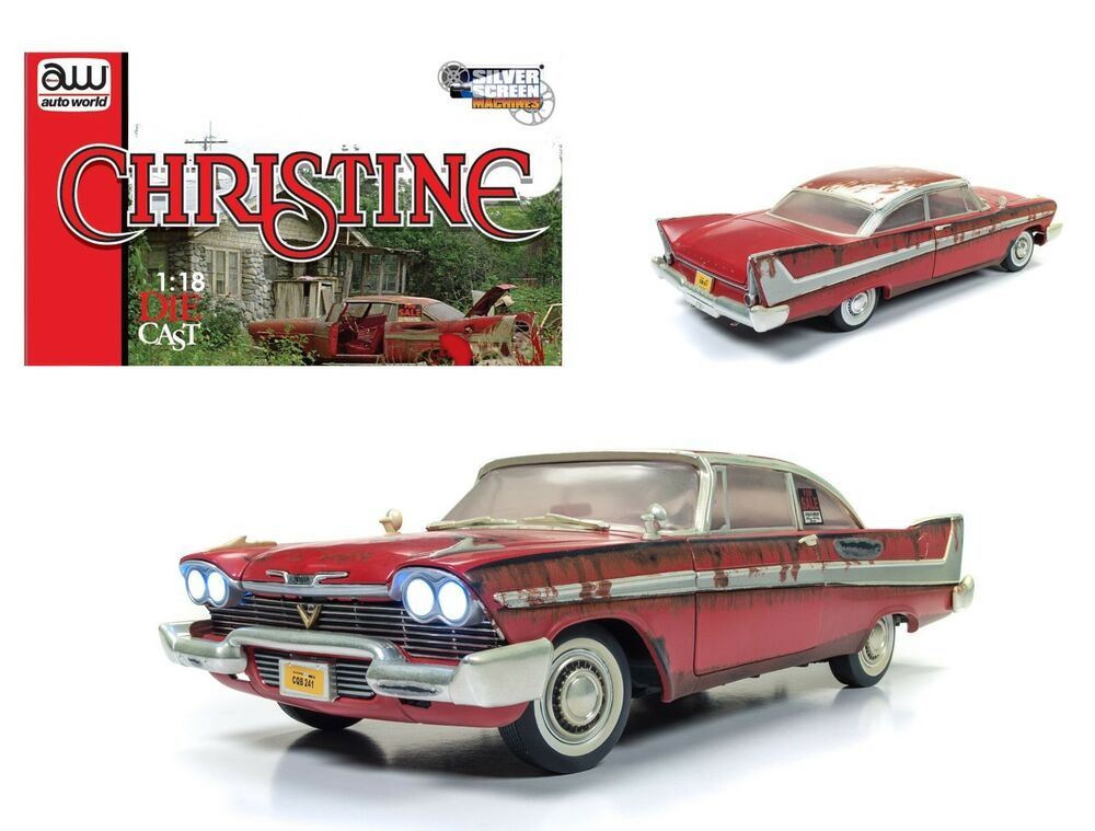 1958 plymouth fury christine dirty version w lights 1 18. Black Bedroom Furniture Sets. Home Design Ideas