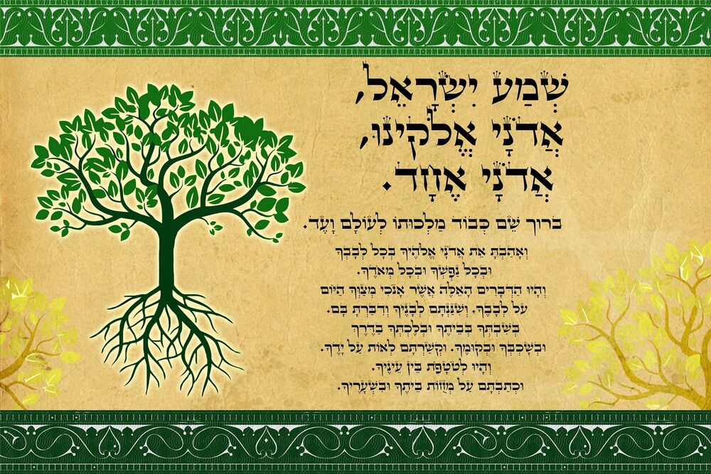 Httpwww Overlordsofchaos Comhtmlorigin Of The Word Jew Html: Fulfillment Tree Of Life Shema Israel Blessing Poster