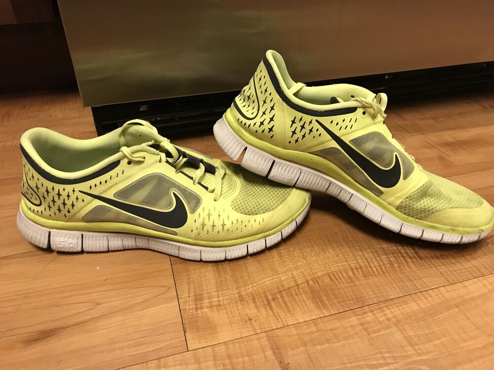 1d77ea9d47dff Details about Nike Free Run 3 Mens 11 Neon Yellow