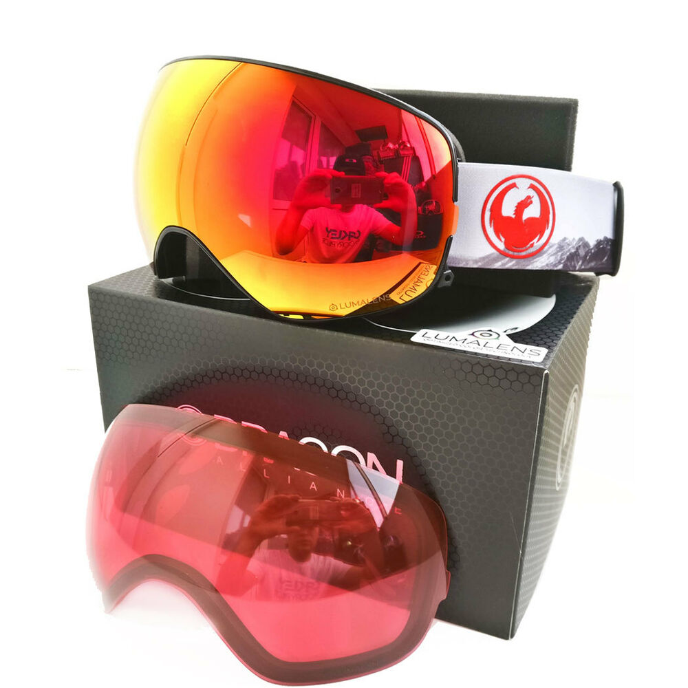 f1a5a5dc559 Details about NEW 2018 Dragon X2s Realm Lumalens Red Ion + LL Rose Snow Ski  Snowboard Goggles
