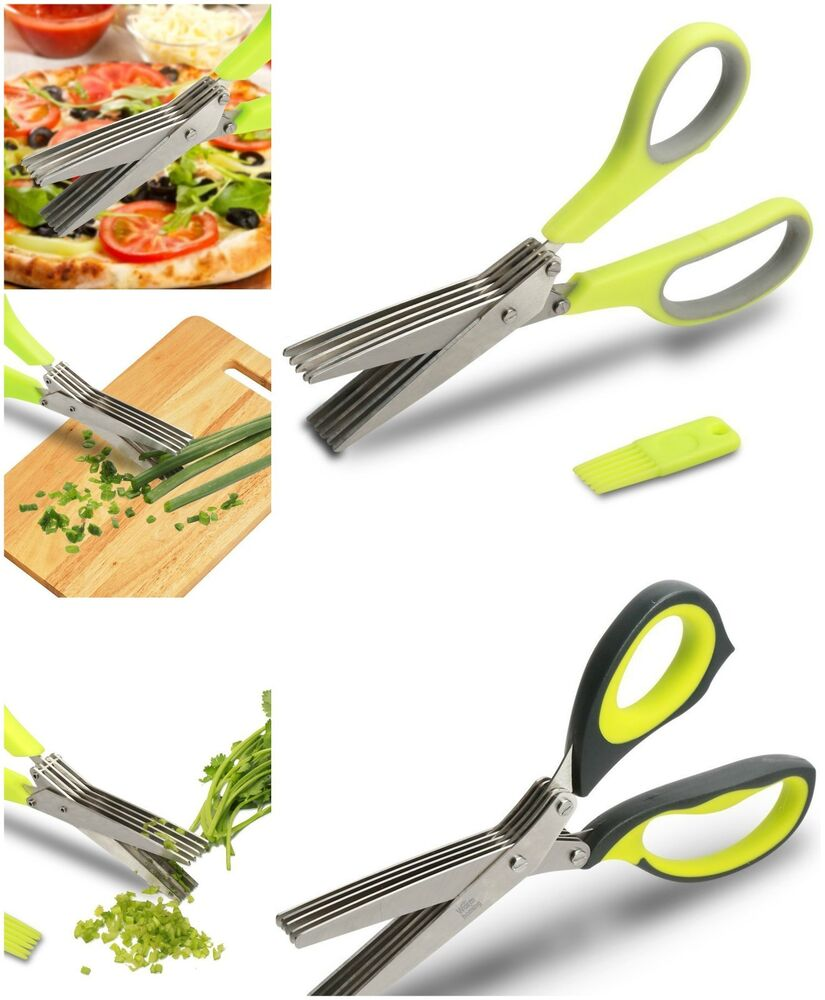 kitchen shears scissors cooking herbs 5 sharp blades