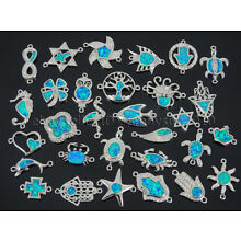 Colorful Opal Crystal Rhinestones Bracelet Connector Charm Beads Silver Plated