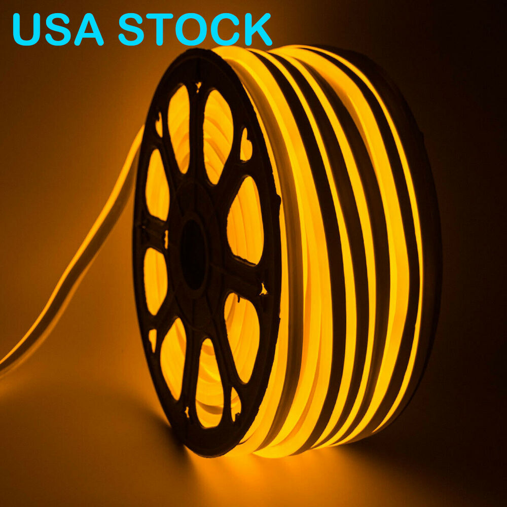 Outdoor Lighting 10m-100m Length Neon Rope Tube Strip Light Wire Flexible Fairy Lights Waterproof Sign Led For Diy Decoration Home Garden Decor