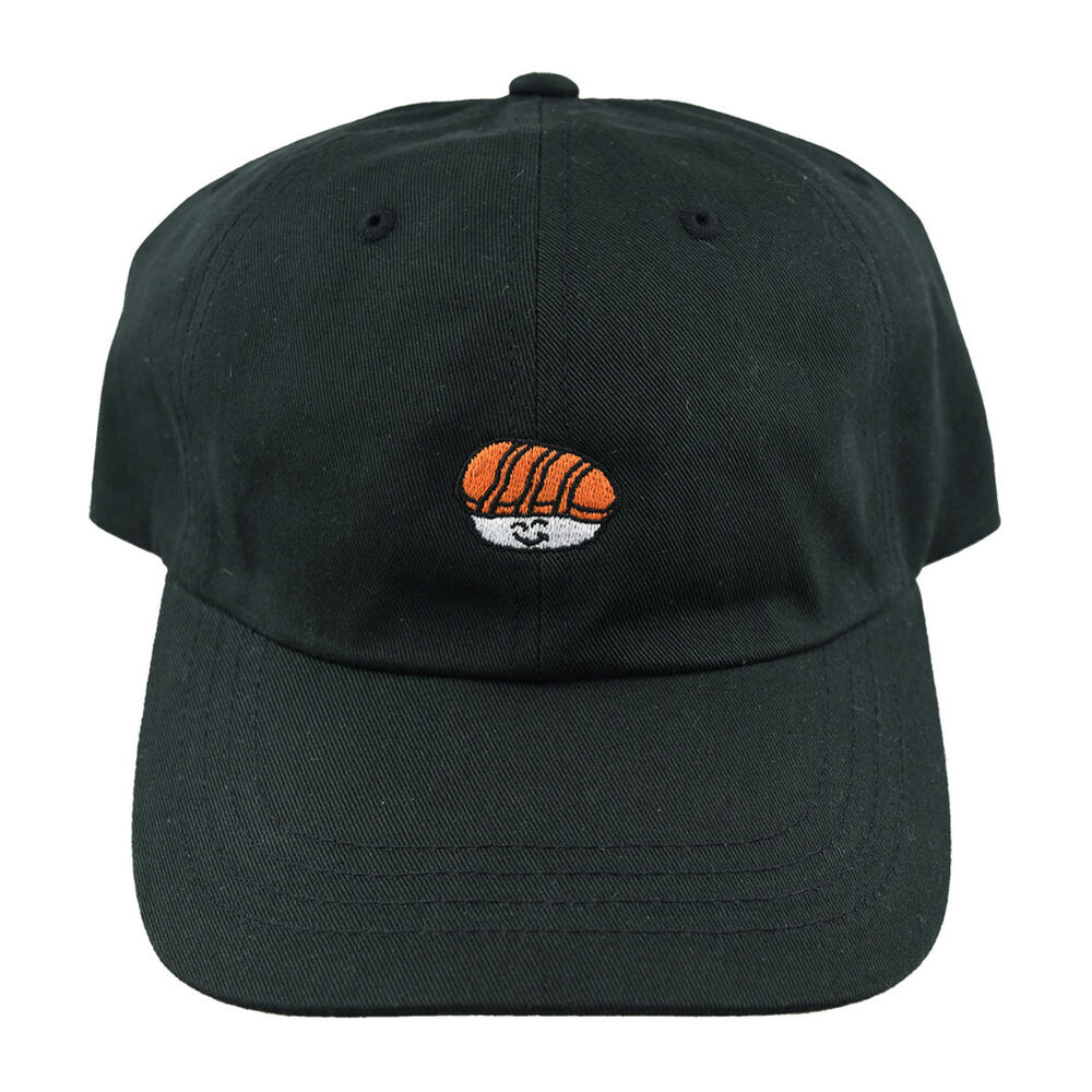 Details about SUSHI HAT by HELLO SUSHI STORE Dad Cap Black Cute Japanese  Foodie Supreme Camp 445ecd42d98