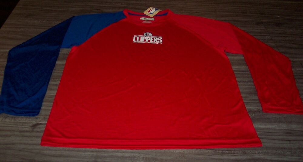 49f1c7f3 LOS ANGELES CLIPPERS NBA BASKETBALL Long Sleeve JERSEY SHIRT LARGE NEW w/  TAG | eBay