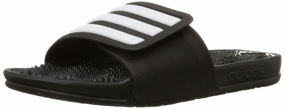 ADIDAS ADISSAGE 2.0 STRIPES MASSAGE SLIPPERS MEN SHOES BLACK S78505 SIZE 11 NEW
