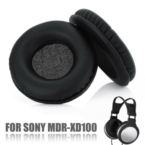 2x Replacement Ear Pads Cushions Covers Cup For Sony MDR-XD100 Headphone Headset
