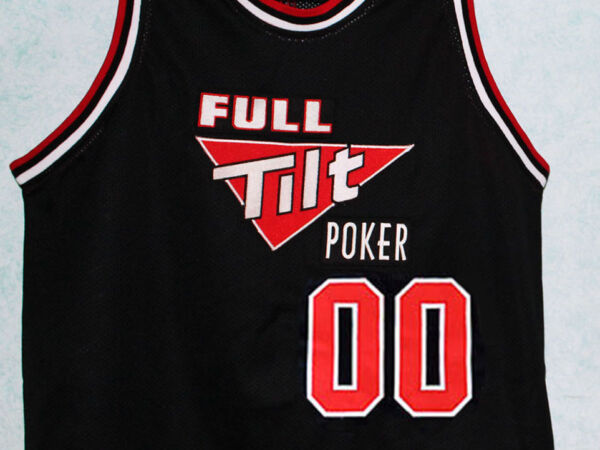 FULL TILT POKER JERSEY BASKETBALL BLACK CUSTOM ANY NAME & # NEW SEWN ANY SIZE