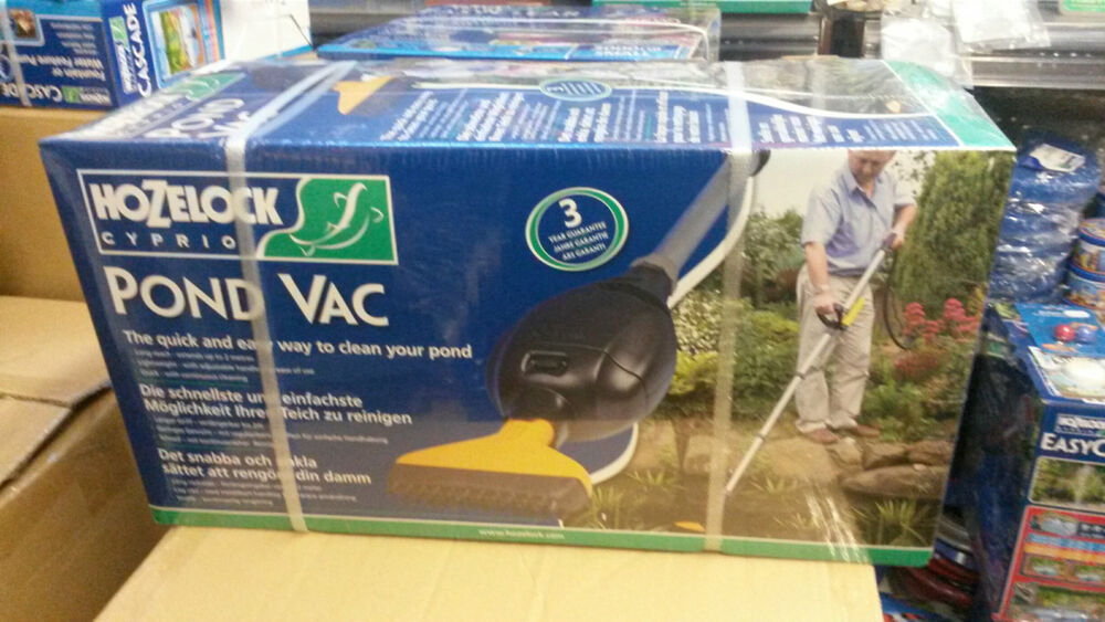 Hozelock pondvac pond vacuum cleaner vac hoover koi fish for Koi pond vacuum