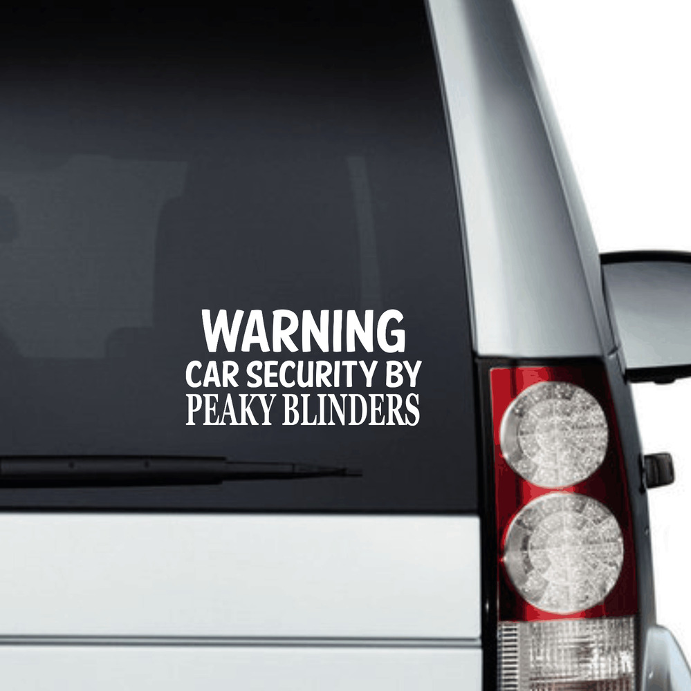 Details about security by peaky blinders car decal vinyl sticker window peaky blinders