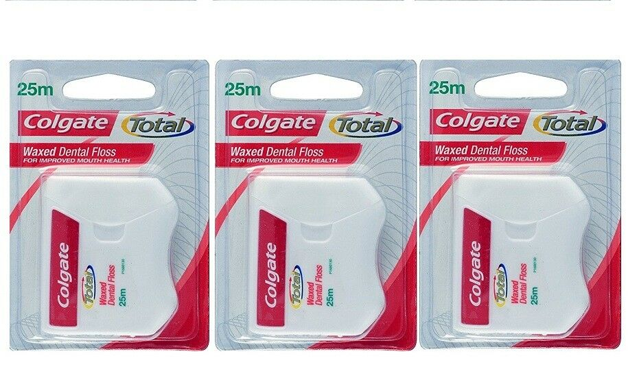 44e6a4569 Dental Floss Colgate Waxed Dental Floss Improved Mouth Health-Pack of 3  (25Mtrs)