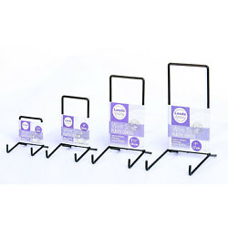 White & Black Wire Strut Display Stands : 6-35cm, 2-5'' to 14''