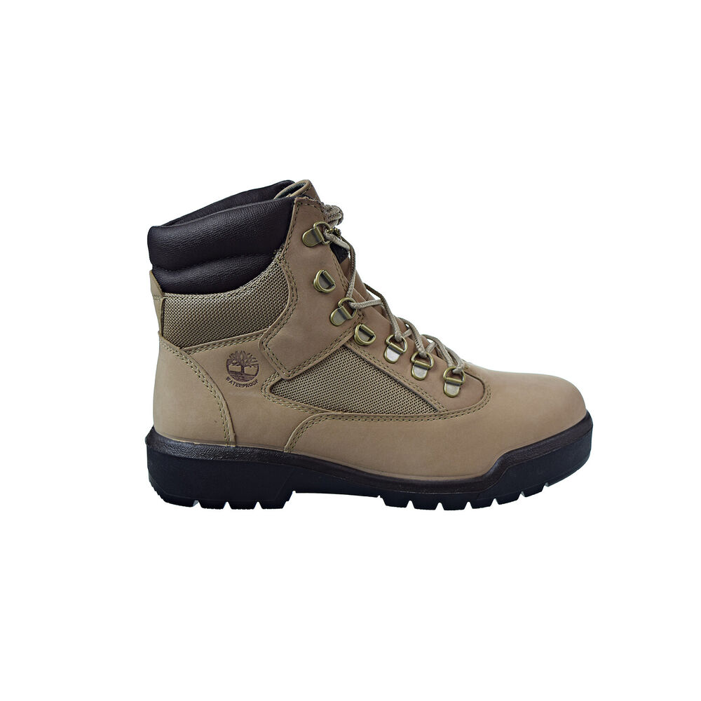 best website 800a6 67c52 Details about Timberland 6 Inch Field Waterproof Men s Boots Beige Nubuck  TB0A1NZK