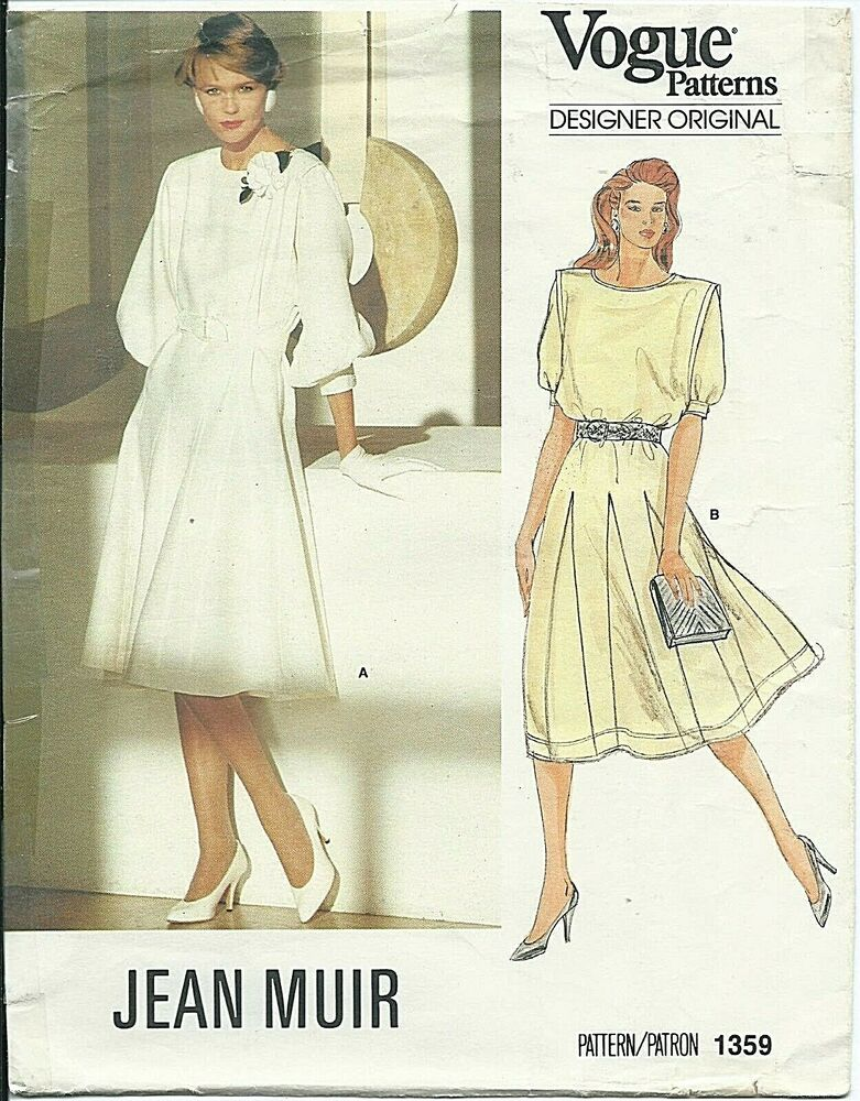 Vogue 1359 sewing pattern JEAN MUIR fashion DRESS sew chic Godets ...
