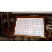 GUITAR CHORD POSTER 11x17 Laminated,149 most useful chords PRICE DROP forHoliday