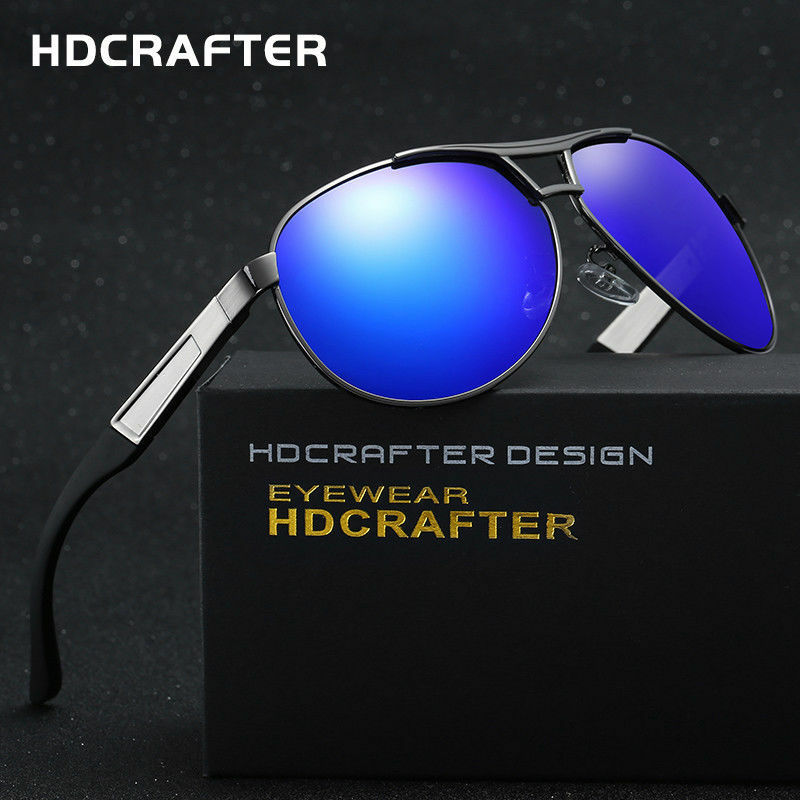 9d95779853c8 Details about Polarized Aviator Sunglasses Mens Womens Case Vintage Sports  Driving Mirrored