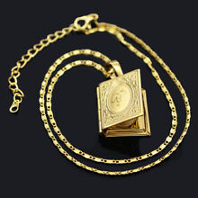 Photo Locket Pendant Necklace Chain Memory Charms Picture Gold Plated for woman
