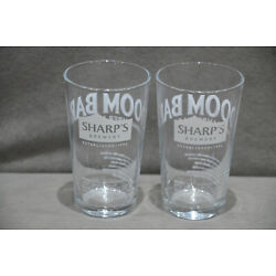 2x Sharps Brewery Doom Bar Exceptional Amber Ale Half Pint 10oz Beer Glass M17