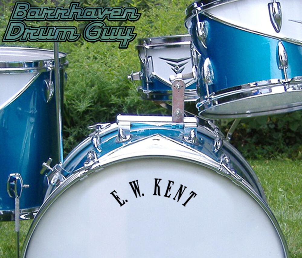 Details about Kent, 60s Vintage, Repro Logo - Adhesive Vinyl Decal, for  Bass Drum Reso Head