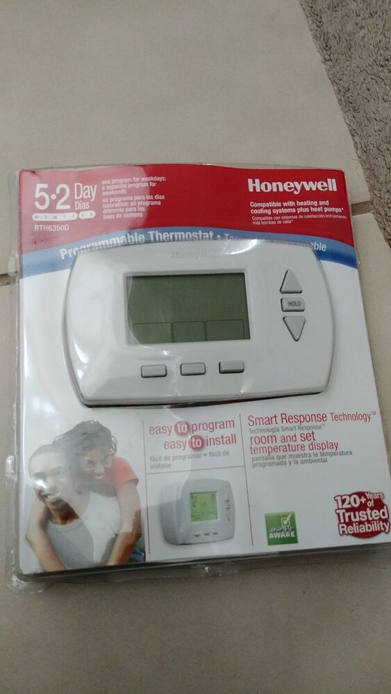 honeywell digital 5 2 day programmable thermostat new open. Black Bedroom Furniture Sets. Home Design Ideas