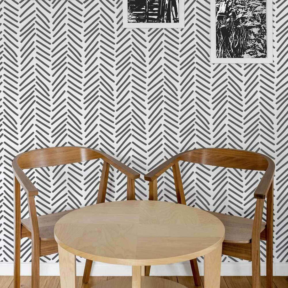 Details About Herringbone Allover Stencil Dyllis Large Wall Pattern For Diy Projects