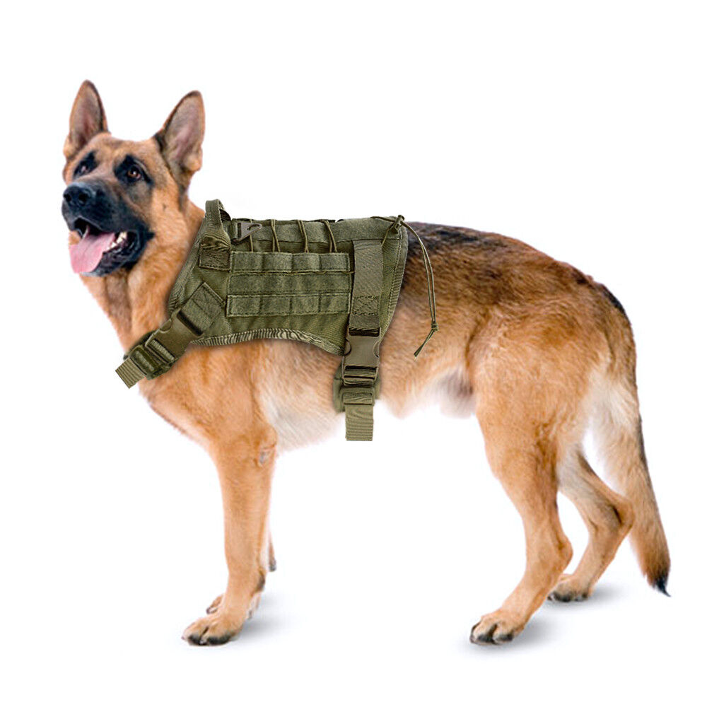 Military Working Dog Harness K9 Molle Large Police Dog