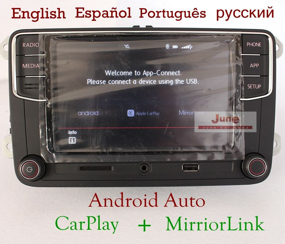 android auto carplay 6 5 39 39 mib rcd340 no name 187b for vw. Black Bedroom Furniture Sets. Home Design Ideas