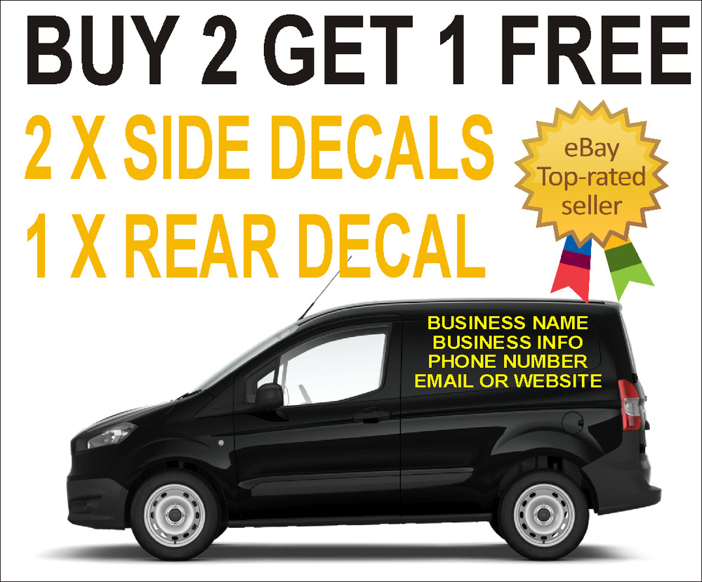 Small custom van vehicle graphics sign stickers writing kit lettering decals ebay