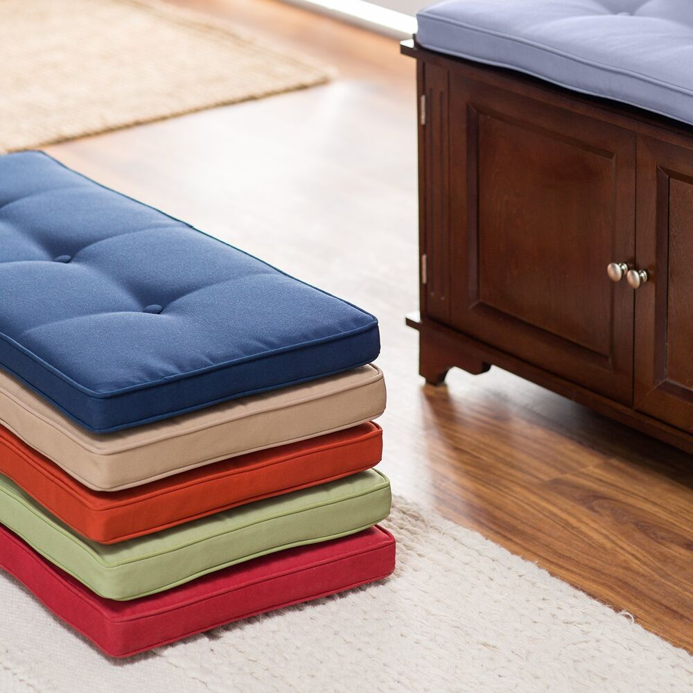 33 25 X 14 5 Indoor Bench Cushion Box Edge Button Tufted