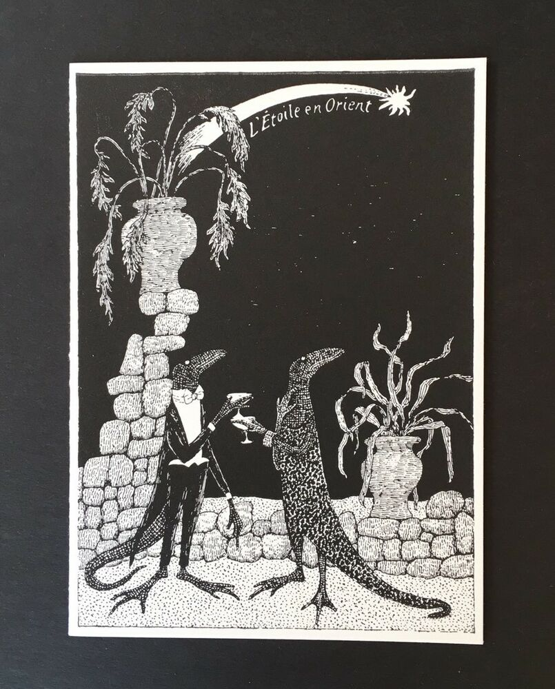 Edward Gorey *L\'Etoile en Orient* Christmas Card - LTD Ed. SIGNED BY ...