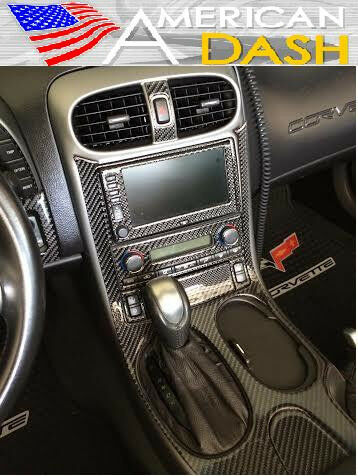 chevrolet chevy corvette interior real carbon fiber dash trim kit set 2005 2013 ebay. Black Bedroom Furniture Sets. Home Design Ideas