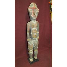 Old or Antique New Guinea Oceanic Tribal Wood Carving Male Figure