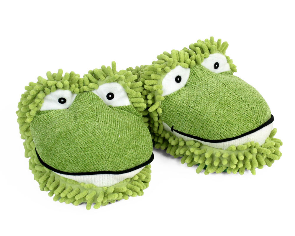 2e519d4112b Frog Slippers - Green Aroma Home Fuzzy Friends Slippers 8906160026312