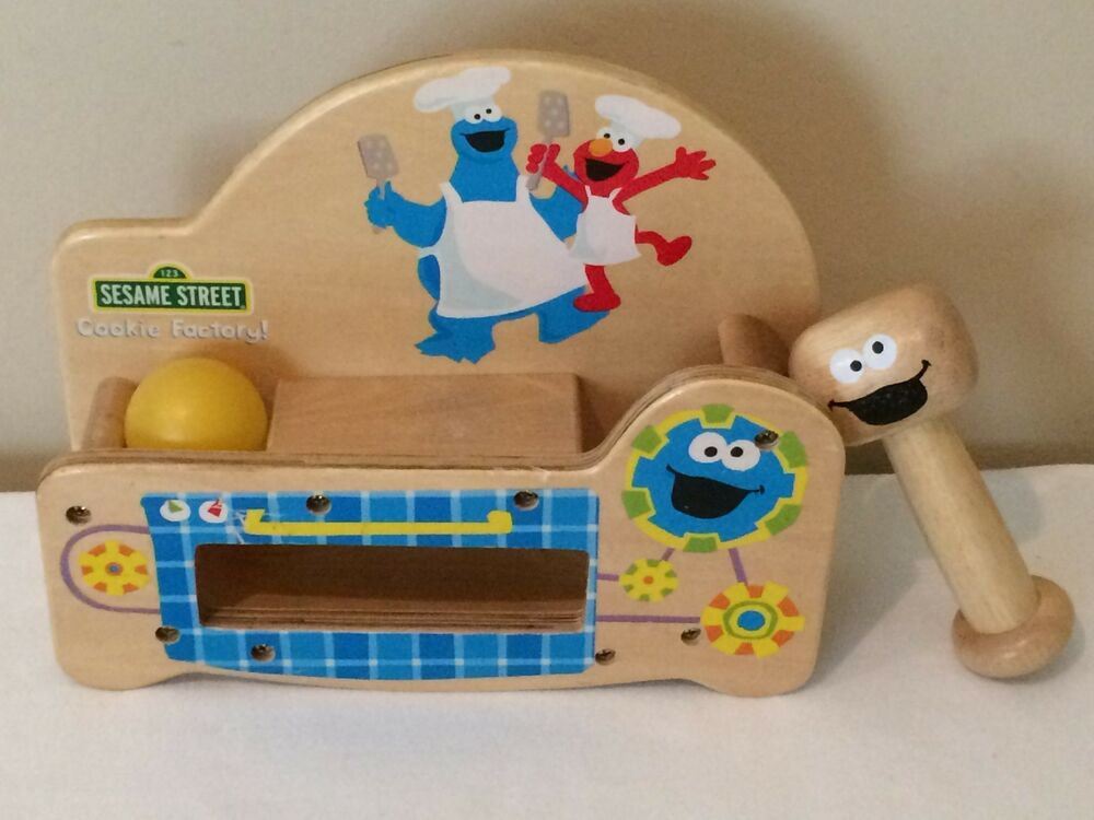 Sesame Street Pound \'n Play Cookie Factory - Hammer, Ball, Pounding ...