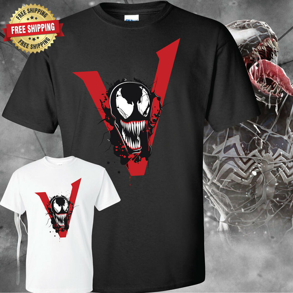 venom t shirt 2018 movie tom hardy ebay. Black Bedroom Furniture Sets. Home Design Ideas