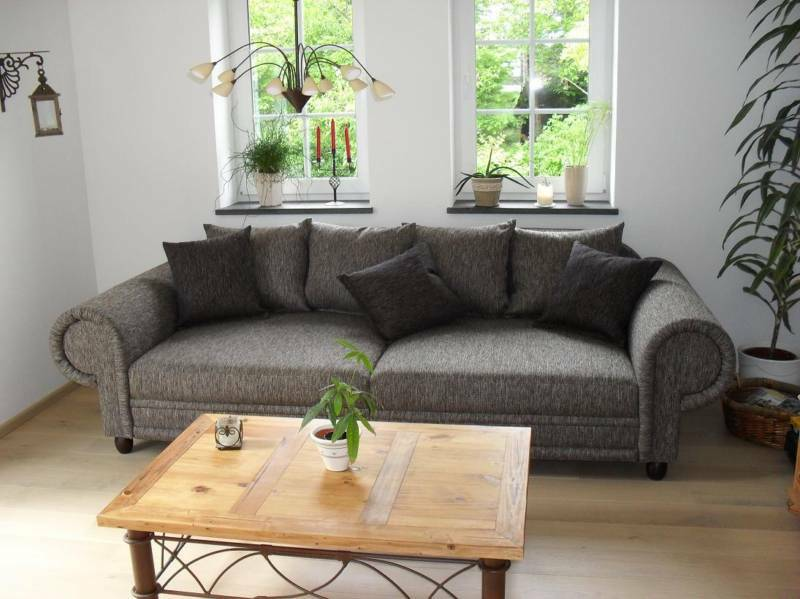 big sofa kolonialstil xxl mega kolonialsofa couch federkern shabby chic ebay. Black Bedroom Furniture Sets. Home Design Ideas